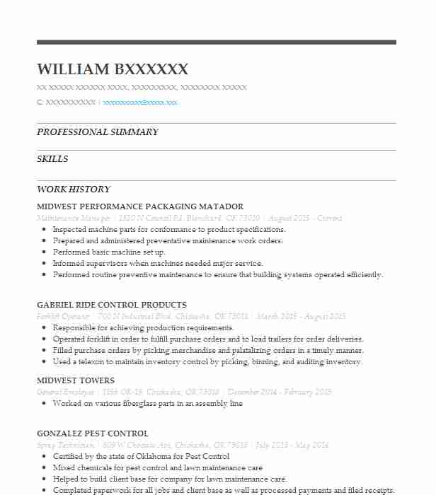 39 Waste And Recycling (Skilled Trades) Resume Examples in Oklahoma ...