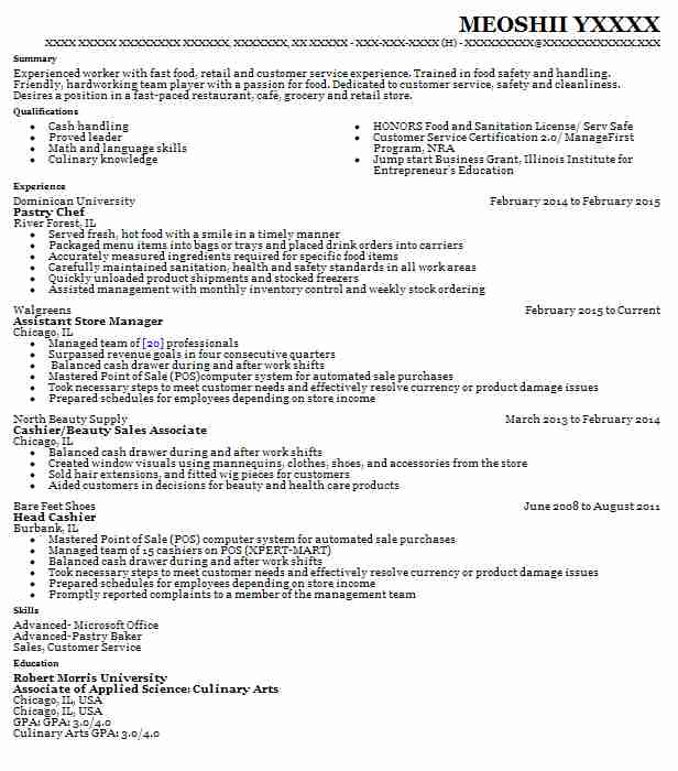 Create My Resume  Sous Chef Resume