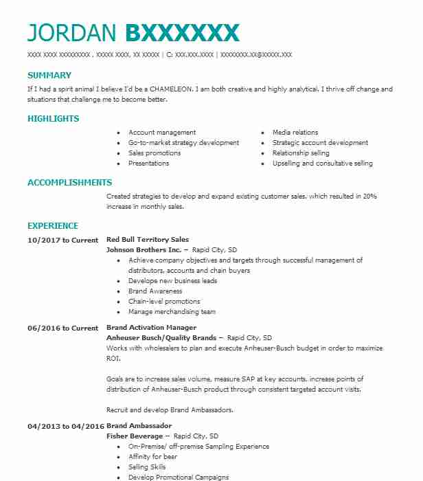 3 Brand Management Resume Examples in South Dakota | LiveCareer