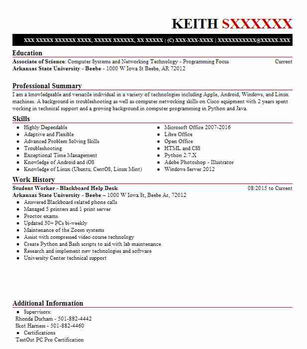 find resume examples in mount vernon  ar