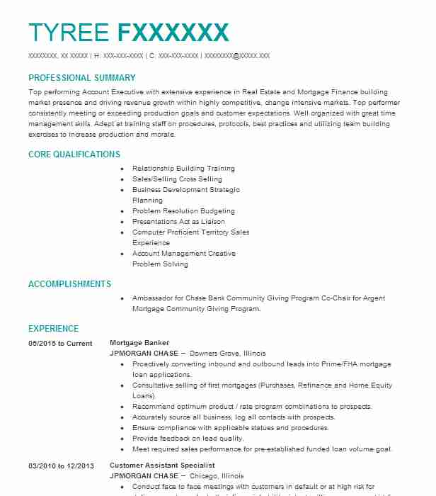 Private Mortgage Banker Resume Example Wells Fargo - Hopkins