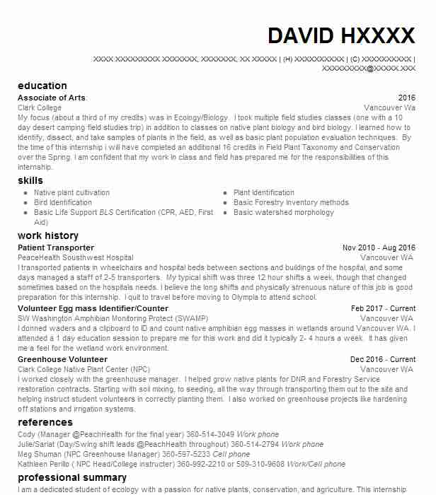 Campground Manager Sample Resume] Campground Manager Sample Resume ...