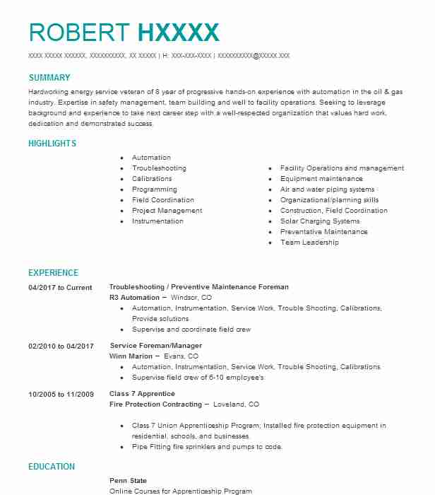 Telecommunications Technician Resume Example (CHARTER SPECTRUM ...