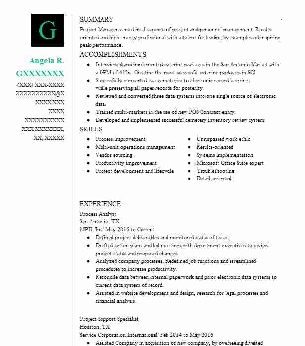 process analyst resume sample analyst resumes livecareer