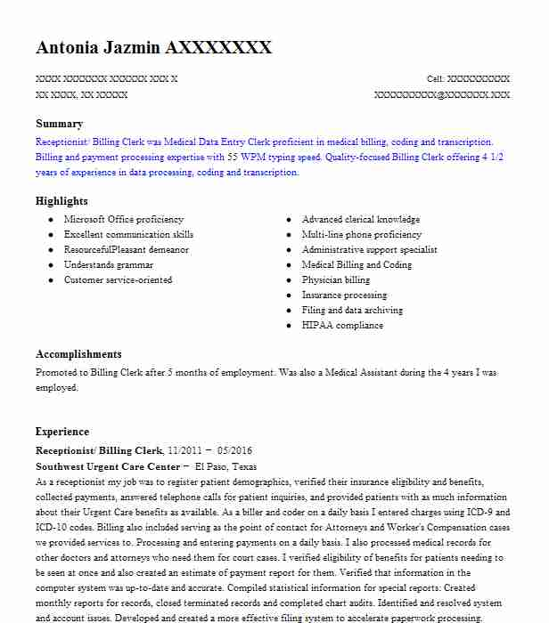 2375 data entry and word processing resume examples in