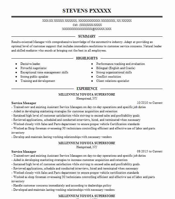 Concierge Resume Objectives Sample LiveCareer