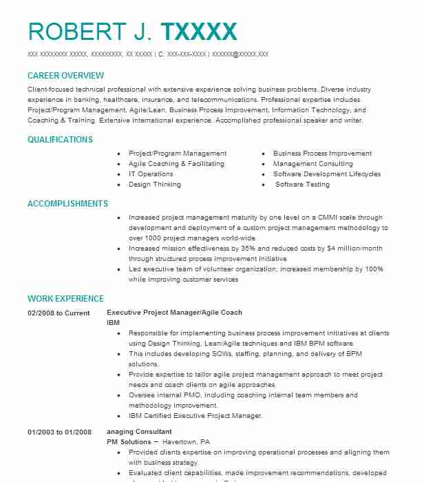Executive Coach Resume Example Maria Guzman Coaching