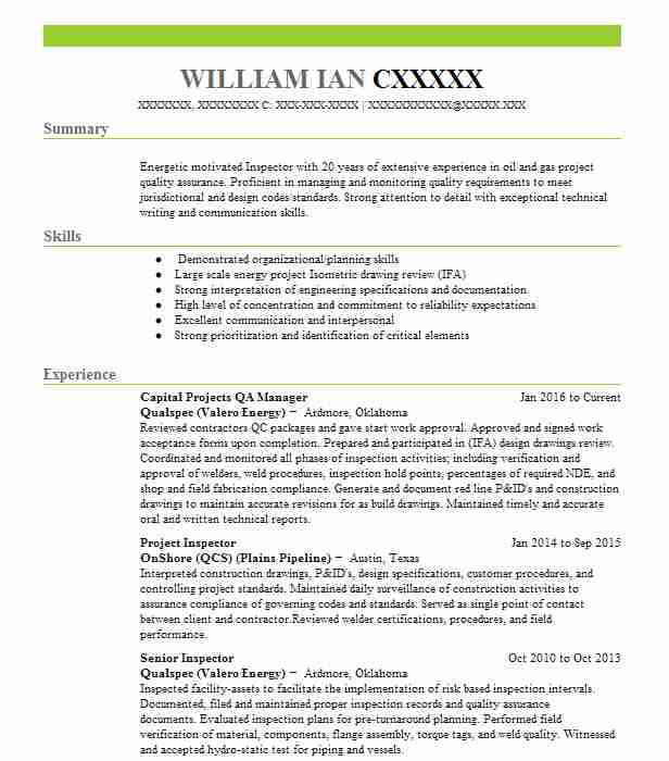 Stunning Oklahoma Energy Resume Ideas - Best Resume Examples by ...