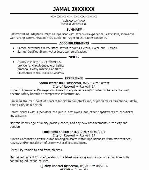 find resume examples in roswell  ga
