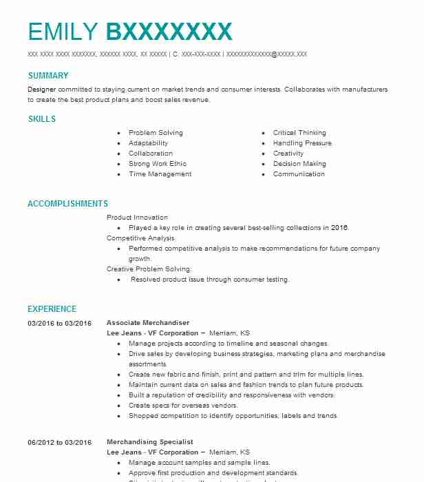 2719 product design resume examples art fashion and design