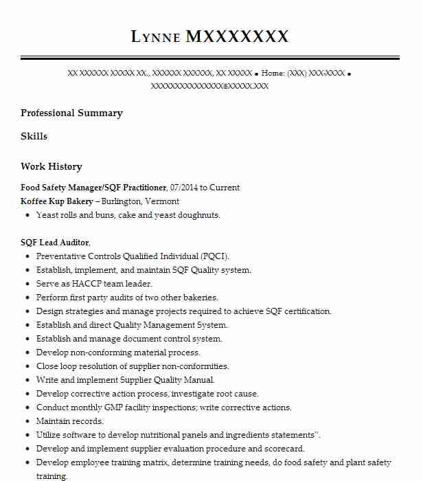 Food safety supervisor resume comparative literature thesis examples