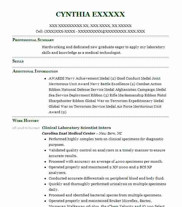 clinical laboratory scientist resume example kaiser