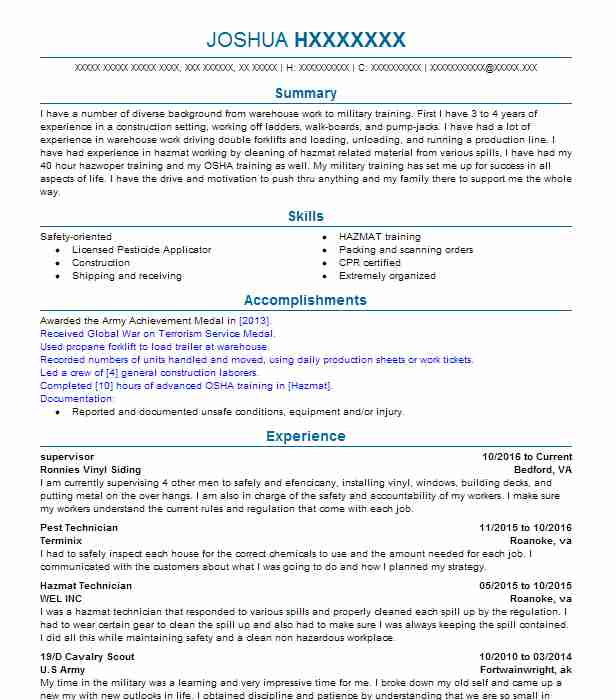 23 forestry resume examples in virginia