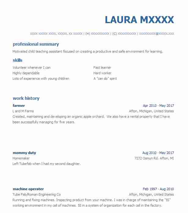 Best Farmer Resume Example Livecareer - Farmer-resume