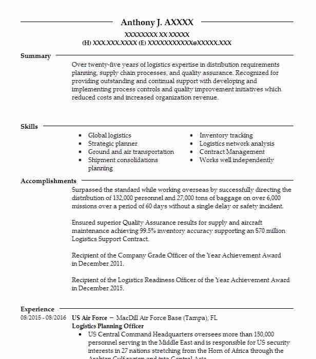 Top Transportation And Distribution Resume  Transportation Resume