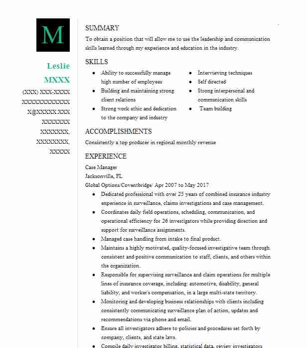 case manager resume objective - Vapha.kaptanband.co