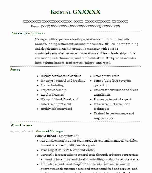 9 resumes matching restaurant management resume samples in west chester