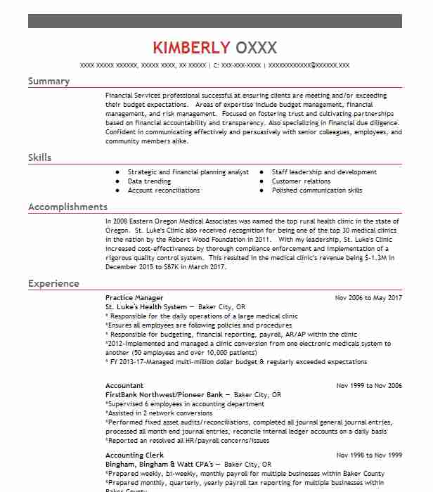 Find Resume Examples In Baker City, OR