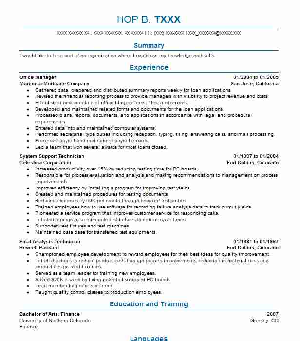 Resume help fort collins co