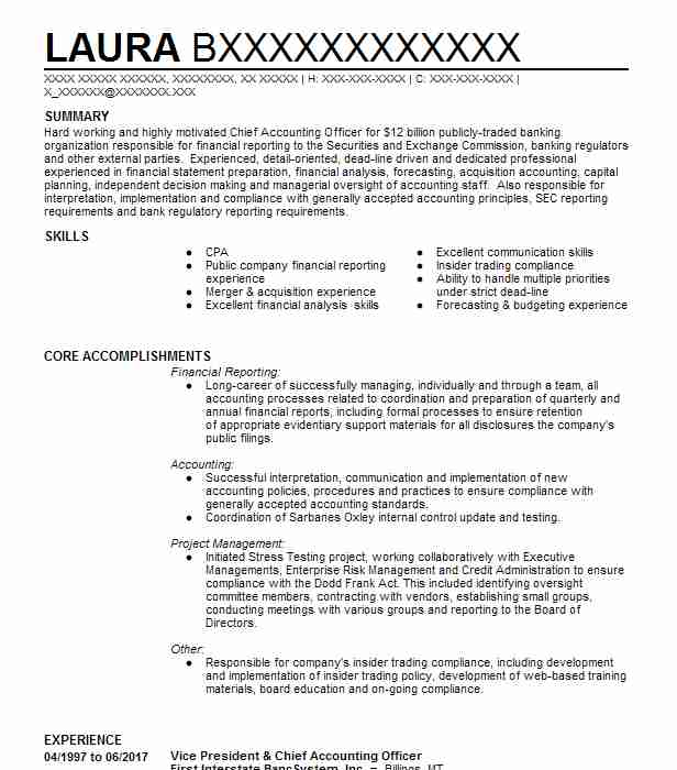 67 Financial Management (Accounting And Finance) Resume Examples in ...