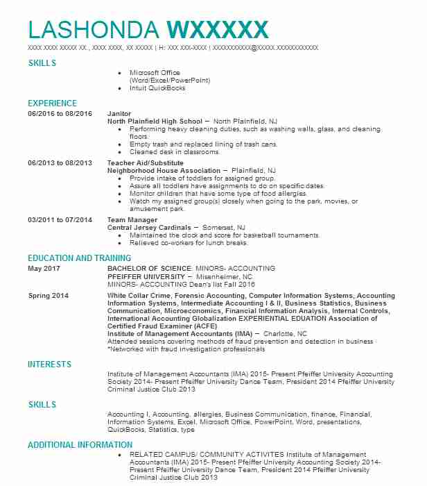 334 Accountants (Accounting And Finance) Resume Examples in South ...