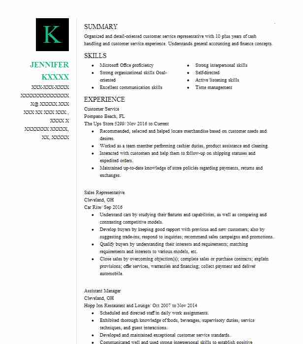 customer service resume sample resumes misc livecareer