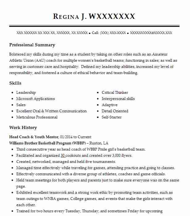 mentor and coach resume example girls on the run bay area