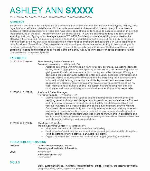 Find Resume Examples In Coplay Pa Livecareer