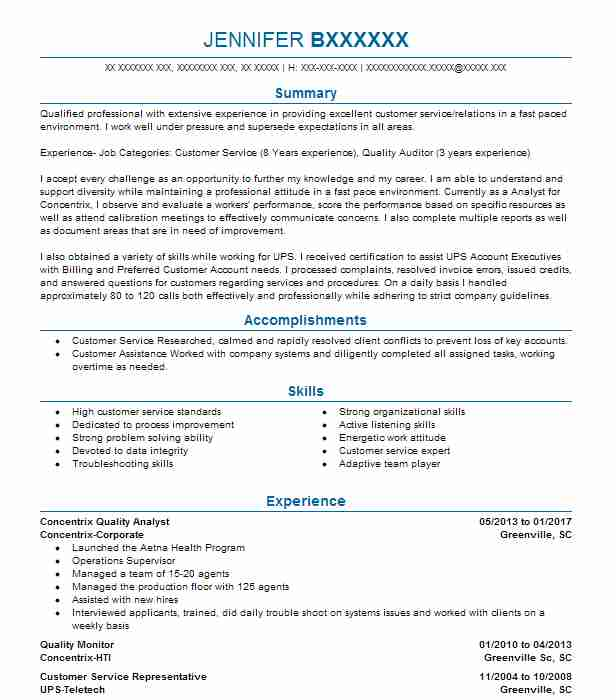 Find Resume Examples in Fountain Inn SC LiveCareer