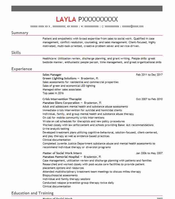 22533 Social Sciences Resume Examples & Samples | Livecareer