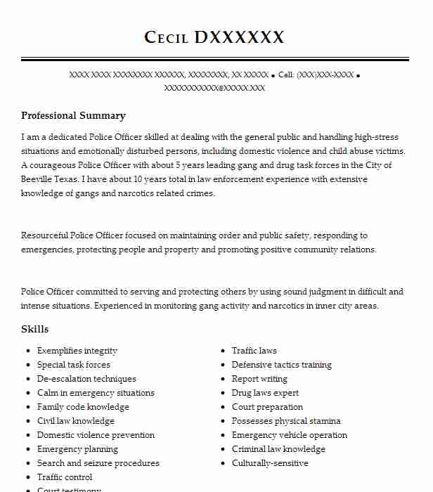 special police officer resume cosy military officer skills resume - Narcotics Officer Sample Resume