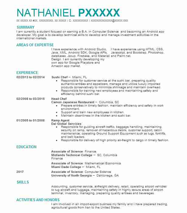 Head chef resume sample chef resumes livecareer similar resumes thecheapjerseys Choice Image
