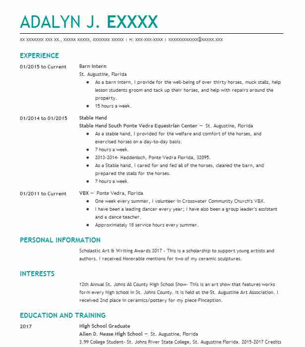 89 Ranch (Natural Resources And Agriculture) Resume Examples in ...