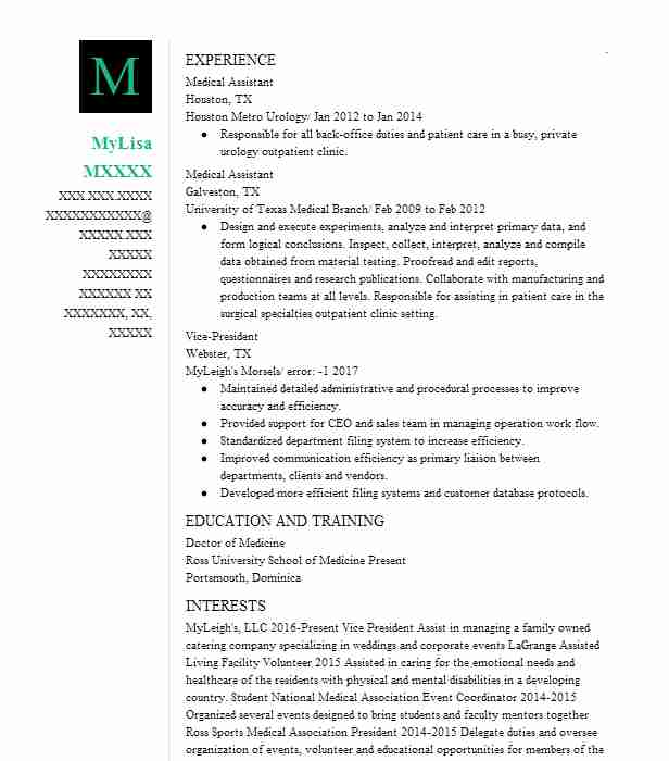 29295 physicians and surgeons resume examples