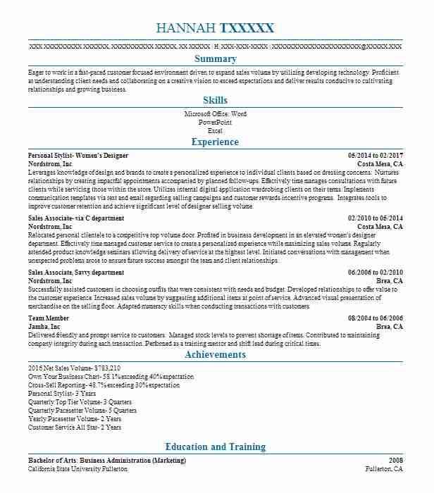 Interior Design Intern Resume Example Andria Houston Texas