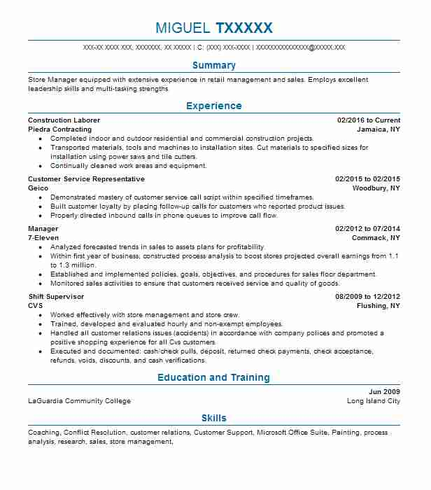 find resume examples in jamaica  ny