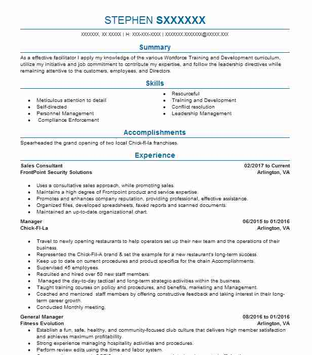 best sales consultant resume example