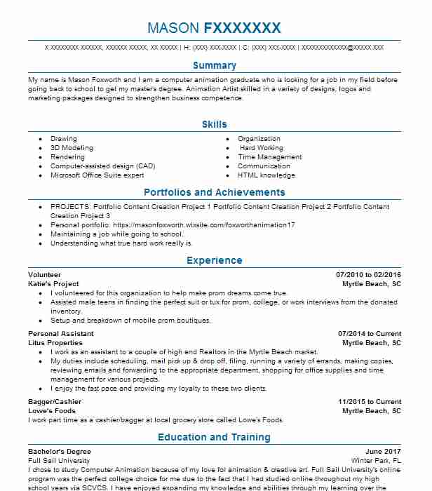 top animation and multimedia design resume - Multimedia Resume Examples
