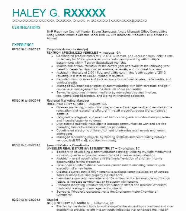 best treasurer resume example