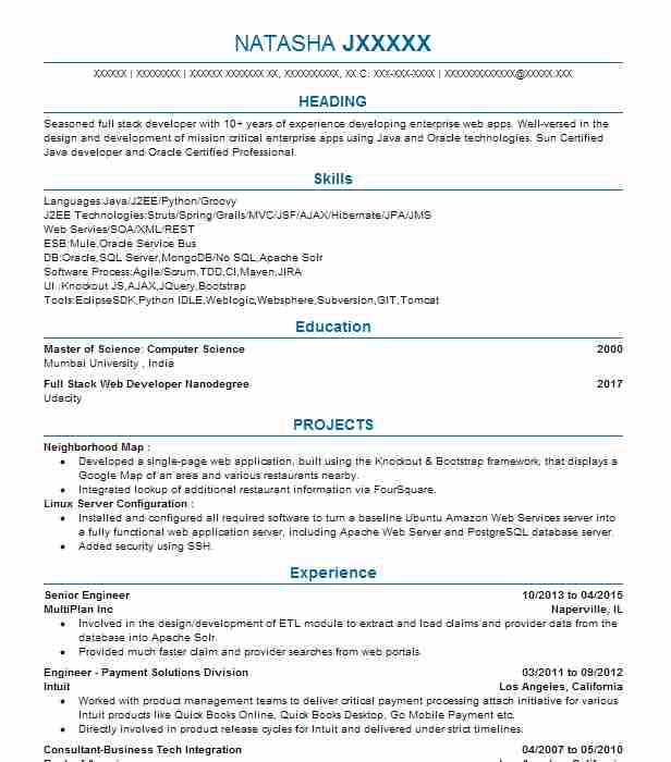 Storage Engineer Resume Java