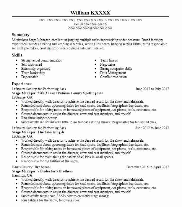 find resume examples in hamilton  ga