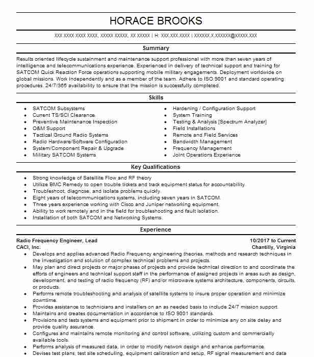 9005 Field Installation Resume Examples Telecommunications And