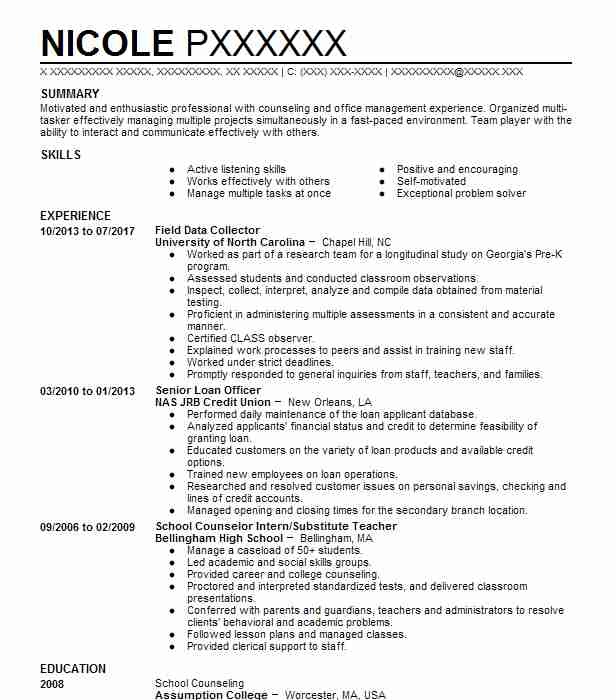 Top School Counseling Resume  School Counseling Resume