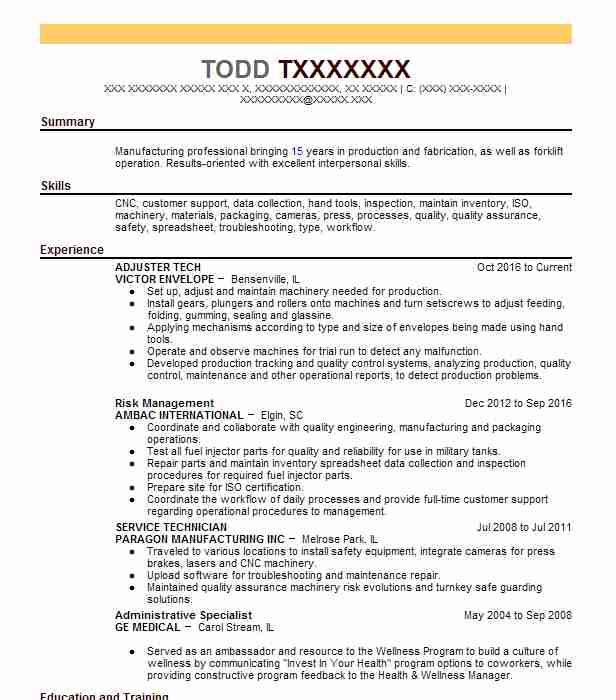 waste water treatment plant operator resume example c c of