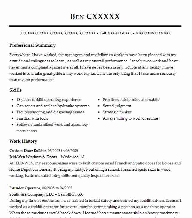 Windows And Door Installer Resume Sample Livecareer