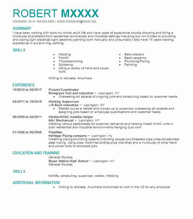 siding installer resume sample