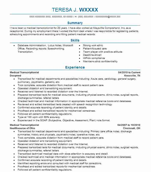 Find Resume Examples in Aberdeen, OH   LiveCareer
