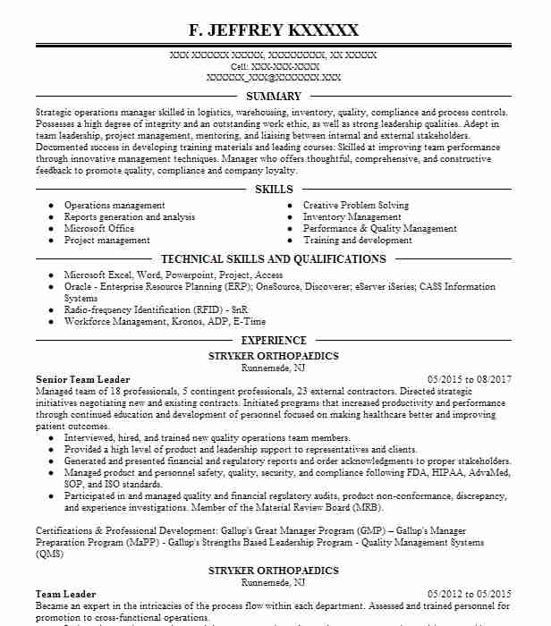 Perfect Senior Team Leader Ideas Sourcing Manager Resume