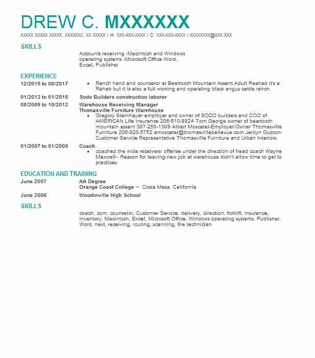 734 Ranch Resume Examples | Natural Resources And Agriculture ...