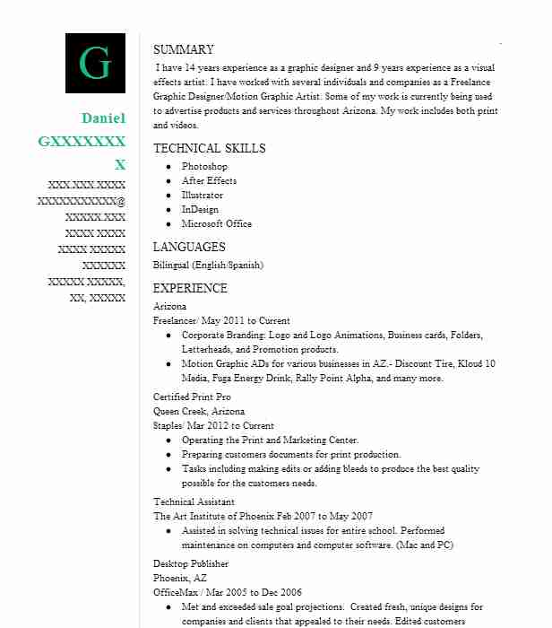 visual effects compositor resume example cosa vfx van nuys